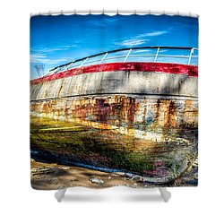 Abandoned Boat Shower Curtain by Adrian Evans