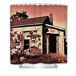 Abandoned Cape Breton House Shower Curtain by John Malone