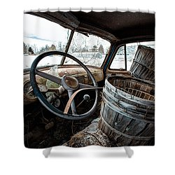 Shower Curtain featuring the photograph Abandoned Chevrolet Truck - Inside Out by Gary Heller