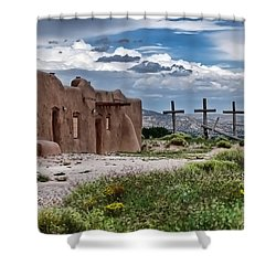 Abandoned Church In Abiquiu New Mexico Shower Curtain