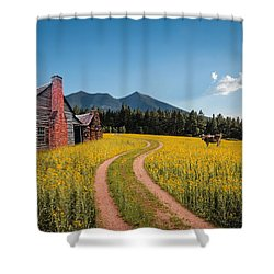Abandoned Country Life Shower Curtain