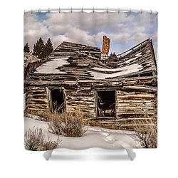 Abandoned Home Or Business Shower Curtain by Sue Smith