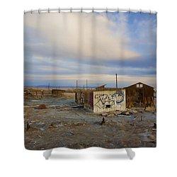 Abandoned Home Salton Sea Shower Curtain by Hugh Smith