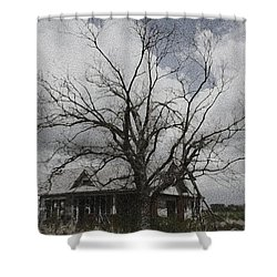 Abandoned House Shower Curtain by Donna G Smith