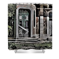 Abandoned House Shower Curtain by Marco Oliveira