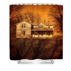 Abandoned House Sunset Shower Curtain by Jill Battaglia
