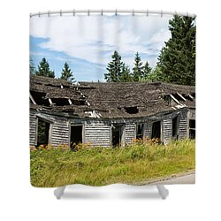 Shower Curtain featuring the photograph Abandoned by John M Bailey