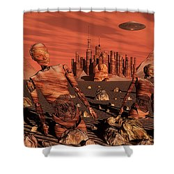 Abandoned Relics From An Advanced Shower Curtain by Stocktrek Images