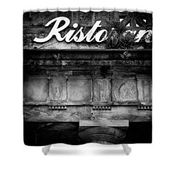 Abandoned Restaurant Shower Curtain by Dave Bowman