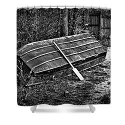 Abandoned Rowboat Shower Curtain by Tara Potts