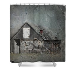 Abandoned Shack On Sugar Island Michigan Shower Curtain by Evie Carrier
