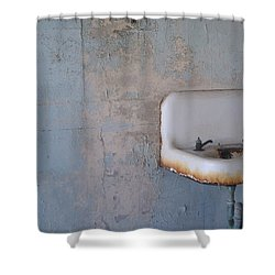 Abandoned Sink Shower Curtain