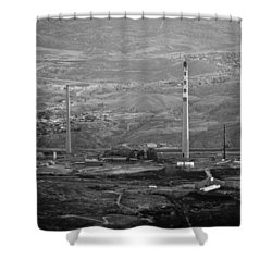 Abandoned Smokestacks Shower Curtain