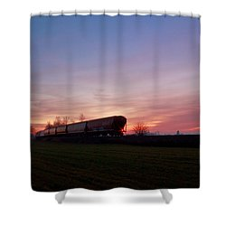 Shower Curtain featuring the photograph Abandoned Train  by Eti Reid