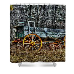 Abandoned Wagon Edge Of Field Shower Curtain by Dan Friend