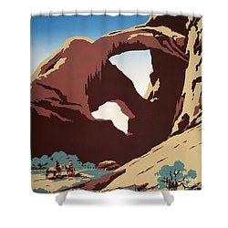 Abbey Country Shower Curtain by Pg Reproductions