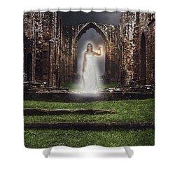 Abbey Ghost Shower Curtain by Amanda Elwell