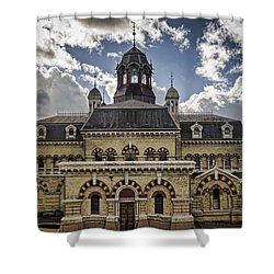 Abbey Mills Pumping Station Shower Curtain by Heather Applegate