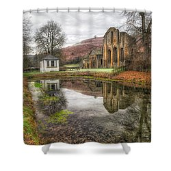Abbey Reflection Shower Curtain by Adrian Evans