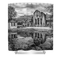 Abbey Reflections Shower Curtain by Adrian Evans