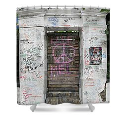 Abbey Road Graffiti Shower Curtain