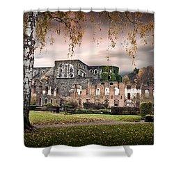 abbey ruins Villers la ville Belgium Shower Curtain by Dirk Ercken
