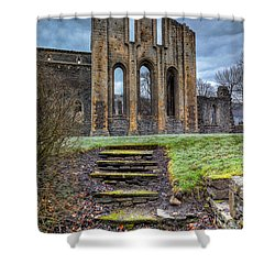 Abbey Steps Shower Curtain by Adrian Evans
