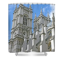 Abbey Towers Shower Curtain by Ann Horn
