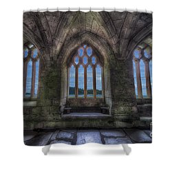 Abbey View Shower Curtain by Adrian Evans