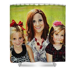 Abby And The Girls Shower Curtain