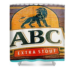 Shower Curtain featuring the photograph Abc Stout by Ethna Gillespie