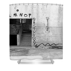 Abcs Bw Shower Curtain