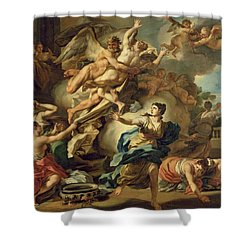 Abduction Of Orithyia Shower Curtain by Francesco Solimen