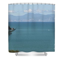 Abel Tasman Split Apple Bay New Zealand Shower Curtain
