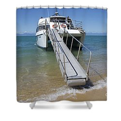 Abel Tasman Water Taxi Shower Curtain