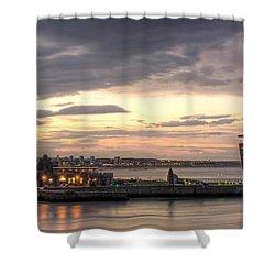 Aberdeen At Dusk Shower Curtain