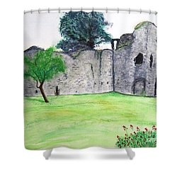 Abergavenny Castle Shower Curtain