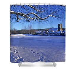Shower Curtain featuring the photograph Aberlour Winter by Phil Banks