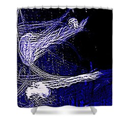 Shower Curtain featuring the photograph Aberration Of Jelly Fish In Rhapsody Series 4 by Antonia Citrino