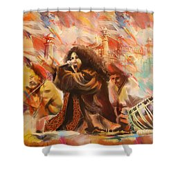 Abida Parveen Shower Curtain by Catf