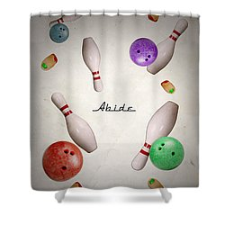 Abide Shower Curtain by Filippo B