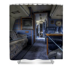 Aboard Air Force Two Shower Curtain