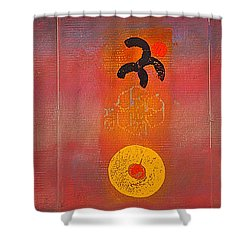 Aboriginal Dream Shower Curtain by Charles Stuart