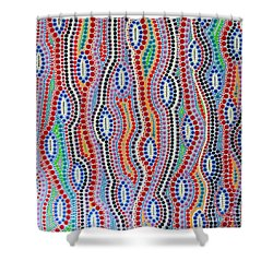 Shower Curtain featuring the painting Aboriginal Inspirations 2 by Mariusz Czajkowski