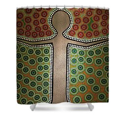 Shower Curtain featuring the photograph Aboriginal Inspirations 21 by Mariusz Czajkowski