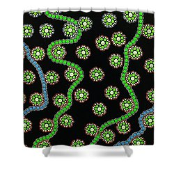 Shower Curtain featuring the photograph Aboriginal Inspirations 23 by Mariusz Czajkowski