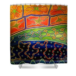 Original Sold Aboriginal Inspirations 7 Shower Curtain