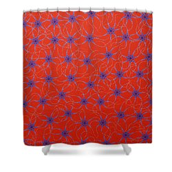 Shower Curtain featuring the painting Aboriginal Inspirations Collection 3 by Mariusz Czajkowski