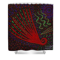Aboriginal Vibes Shower Curtain by Vicki Maheu