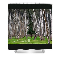 Above All Else Be Yourself Shower Curtain